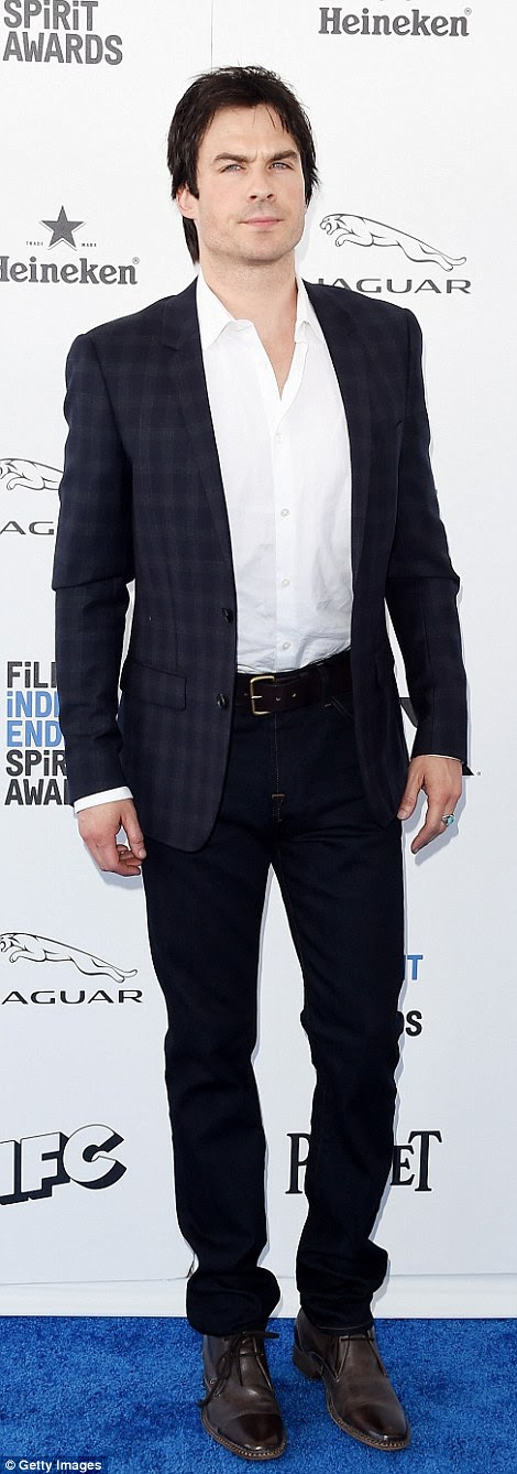 Suited up!Actors Ian Somerhalder andKen Jeong cut dapper figures in their stylish two-pieces