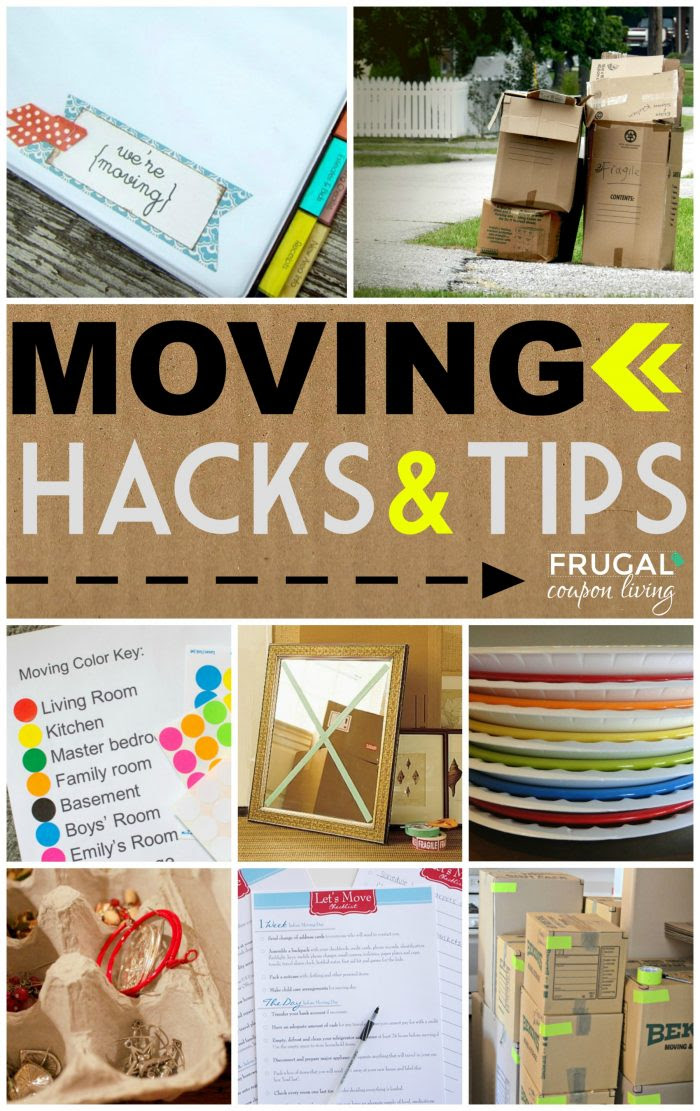 Moving Tips and Hacks Collage Frugal Coupon LIving e1474654262804