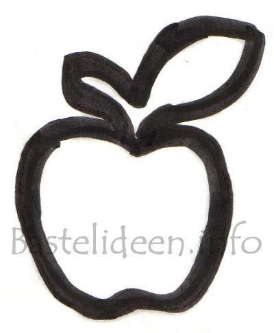 Bastelideen.info - Kostenlose Apfel Bastelvorlage
