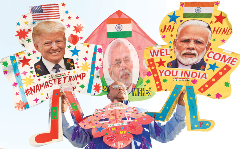 """""""NAMASTE TRUMP"""" as US President arrives in India today"""