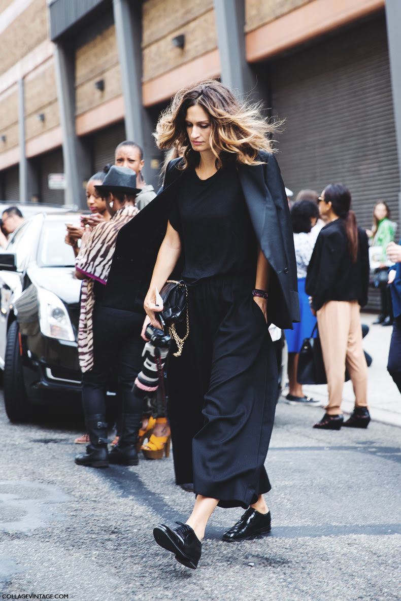 New_York_Fashion_Week_Spring_Summer_15-NYFW-Street_Style-Total_Black-Masculine_Look-