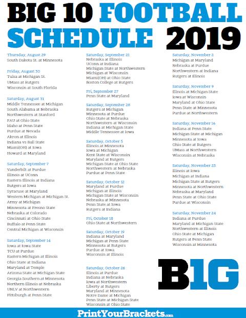 2020 Iowa Football Schedule