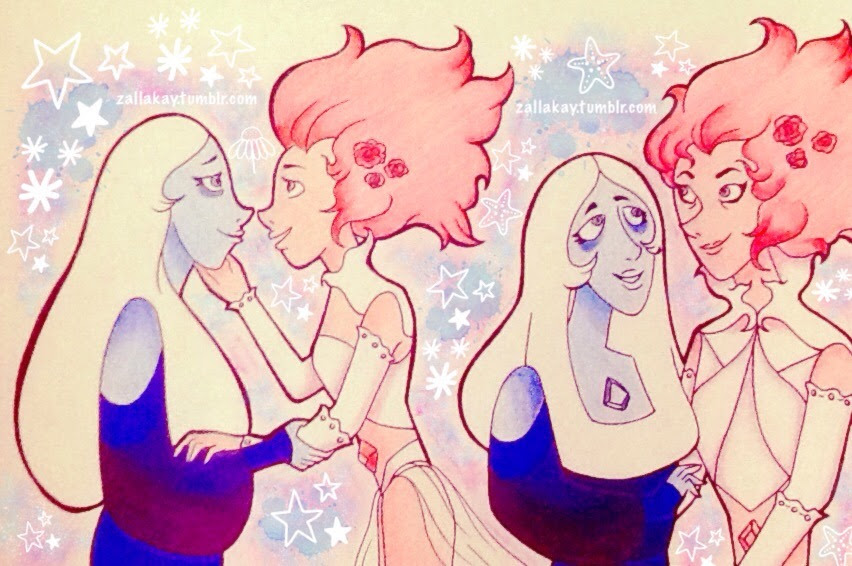 Blue and Pink Diamond ~ ☆.。.:*・°☆.