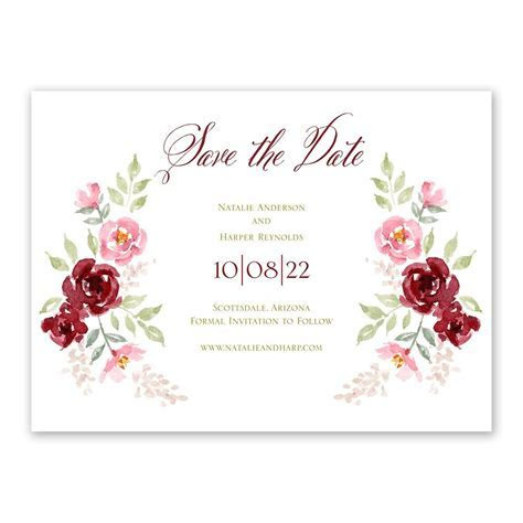Floral Frame Save the Date   Ann's Bridal Bargains