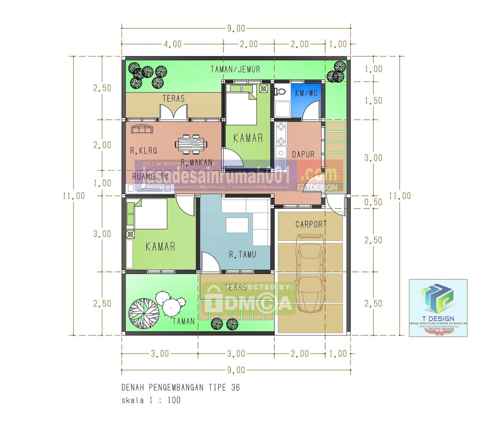 100 Dekorasi Desain Rumah Ukuran 7x14 Terlihat Keren
