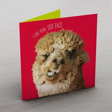 Personalised Card   Alpaca Sex Face   From 99p