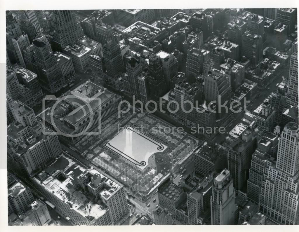 Bryant Park from above 1939