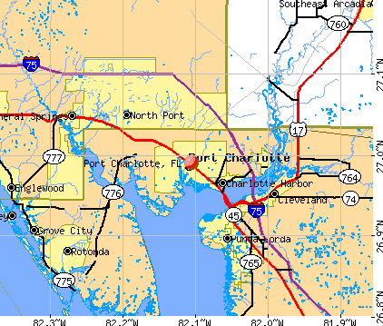 Street Map Port Charlotte Florida.Street Map Port Charlotte Florida Cinemergente