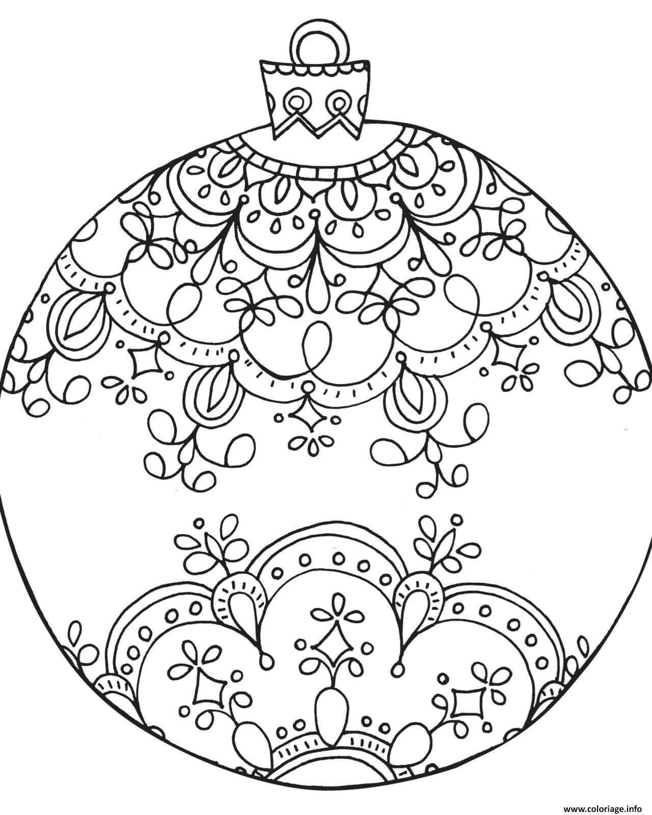 Coloriage Boule De Noel Adulte Noel Dessin  Imprimer