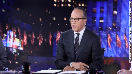 """NBC NEWS - ELECTION COVERAGE -- Election Night 2016 -- Pictured: Lester Holt, Anchor, """"NBC Nightly News with Lester Holt"""" on Tuesday, November 8, 2016 in New York -- (Photo by: Heidi Gutman/NBC/NBCU Photo Bank via Getty Images)"""