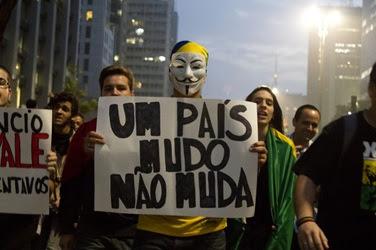 As manifestacoes populares no Brasil