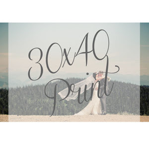 30x40 Print Whitefish Wedding Photographer Jennifer Mooney