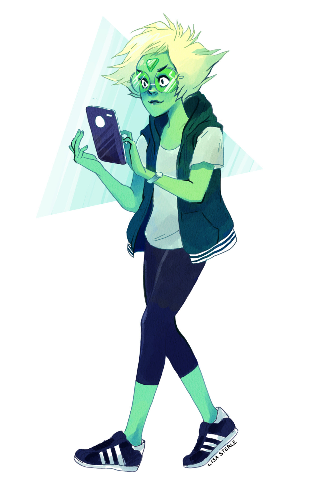 A Peridot doodle (Peridoodle? :3) because an anon so kindly asked. Also Peridot has grown on me a lot in the past few weeks.