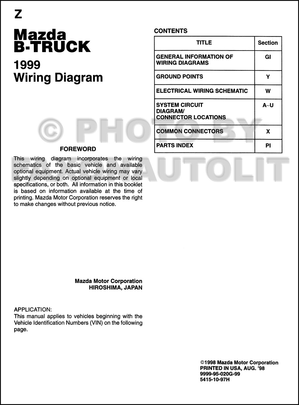 Diagram For 1994 Mazda B2300 Fuse Box - Wiring Diagram
