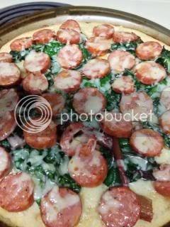Recipe: Swiss Chard, Garlic, Sausage and Gruyere Pizza