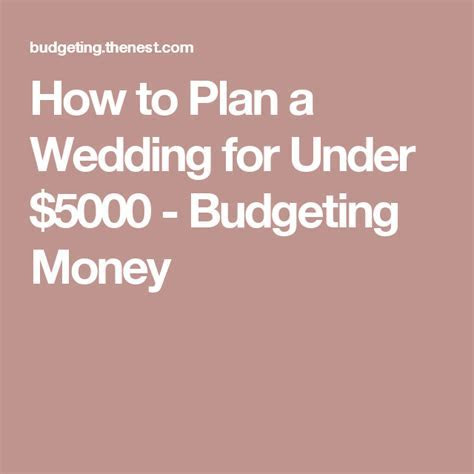 How to Plan a Wedding for Under $5000   Budget wedding