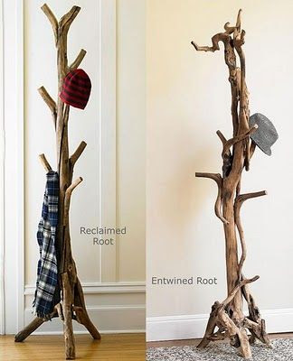 Root Coatrack: It combines the natural serpentine artistry of entwined tree roots.