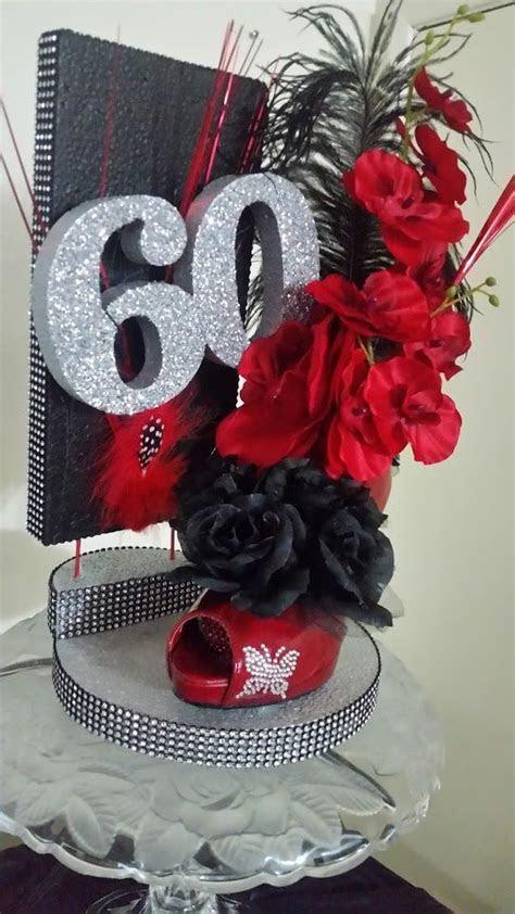 60th Birthday Party high heel centerpiece   Shoe High Heel