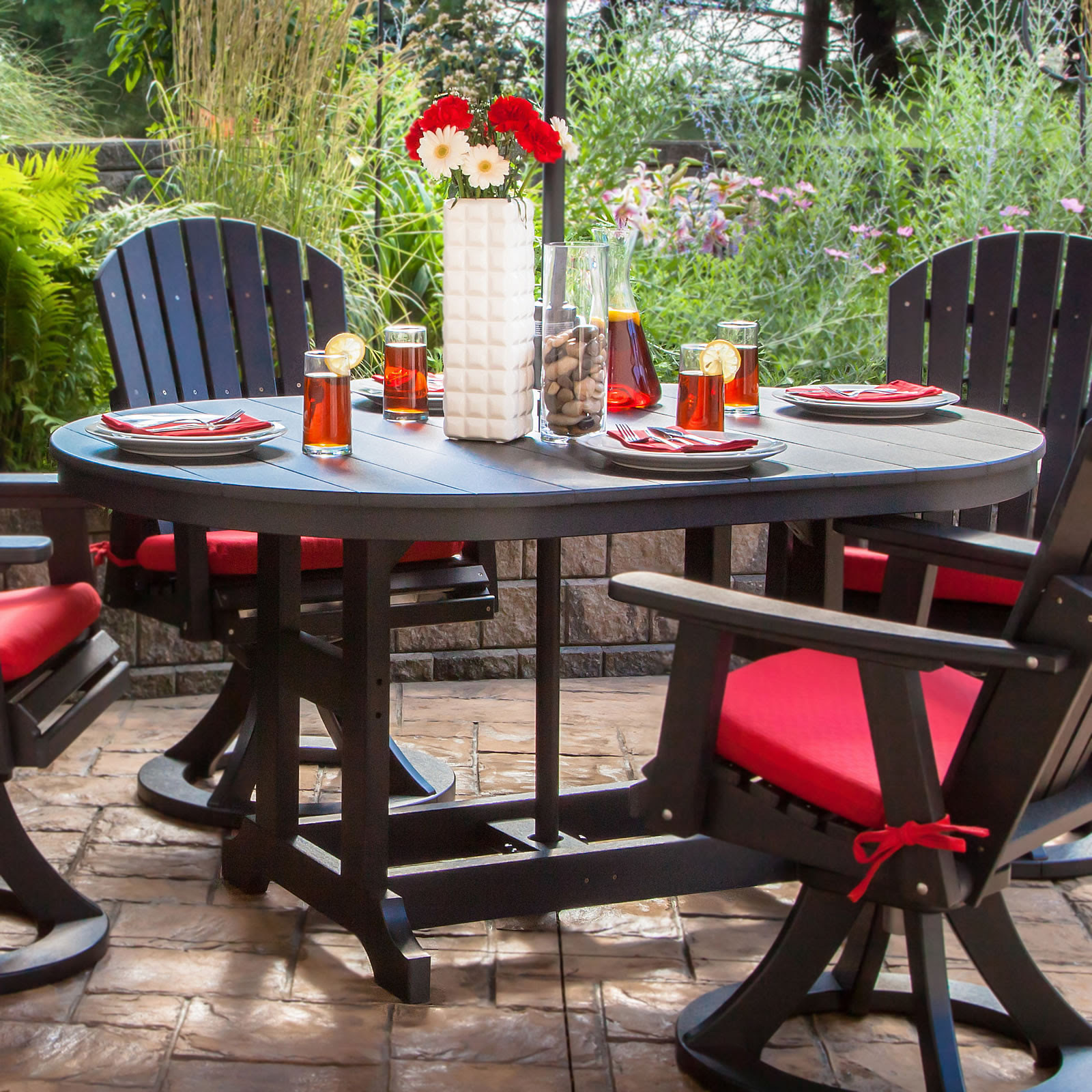 Garden Classic 44 x 64 in Oval Table - Dining, Counter or ...