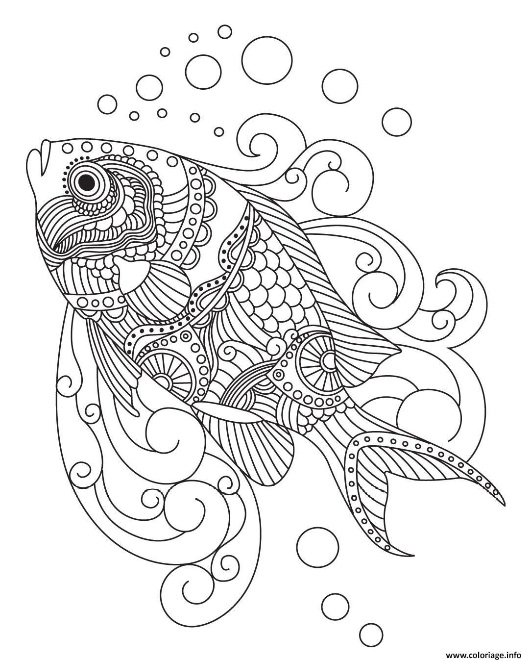 Coloriage Mandala Poisson Bondless