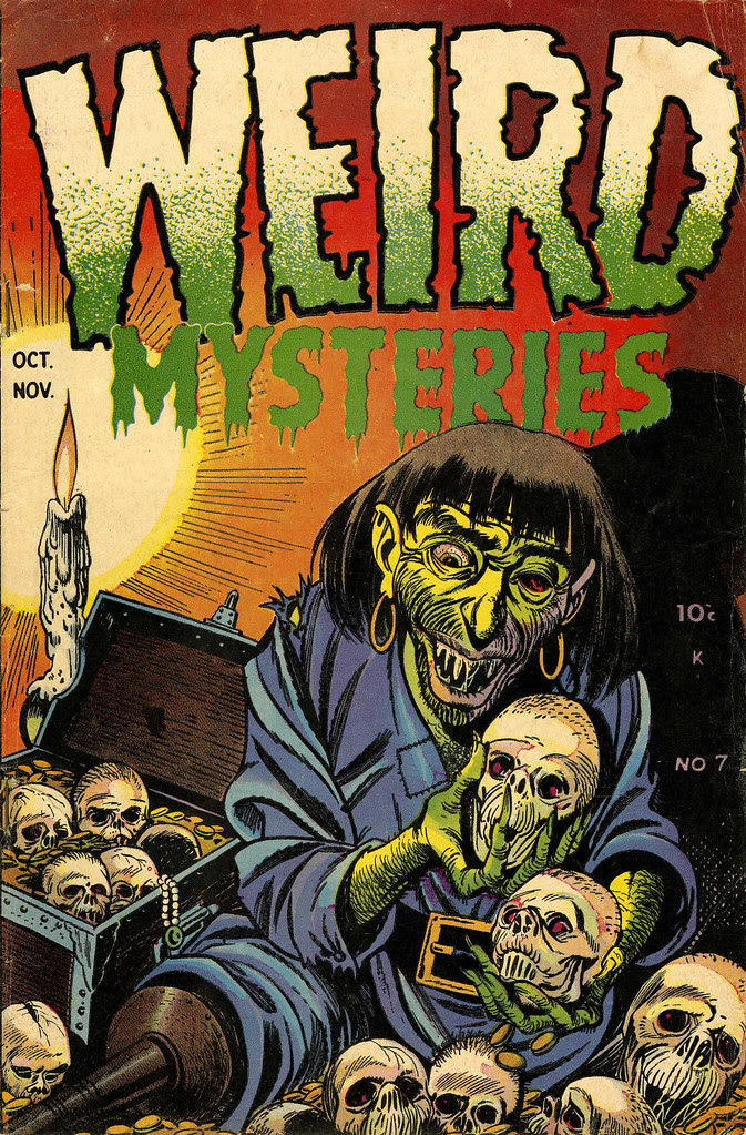 Weird Mysteries #7 Bernard Bailey Cover (Gillmor, 1953)