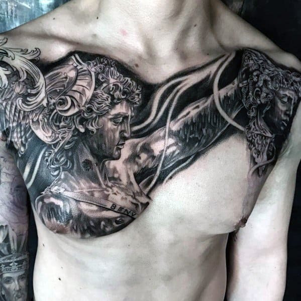 40 Perseus Tattoo Designs For Men Greek Mythology Ink Ideas