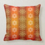 Orange lava pattern throw pillow throwpillow