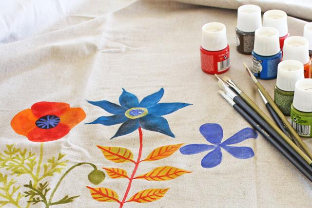 Painting on linen