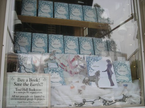 Shiver window at Toad Hall Bookstore