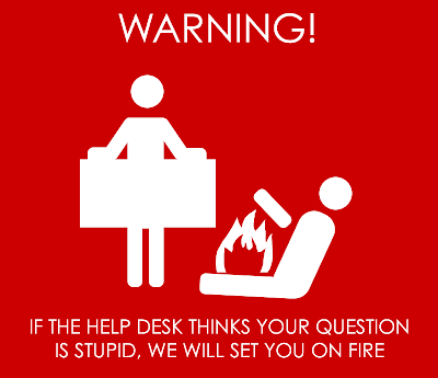help desk on fire