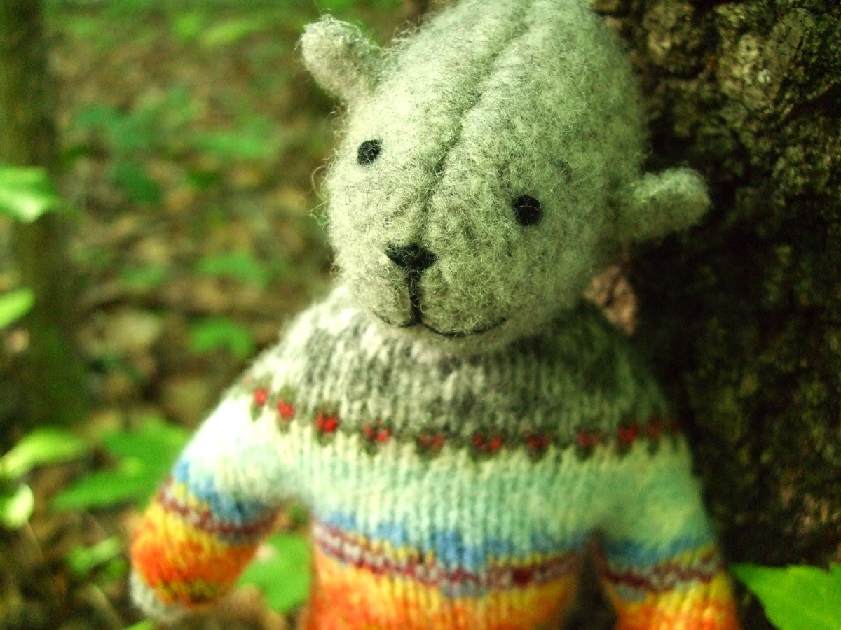 Pogo - Harley, eco-friendly stuffed animal, repurposed wool