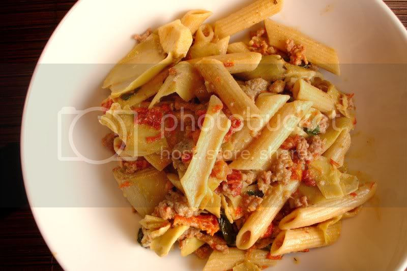 Sun Dried Tomato Sausage Penne