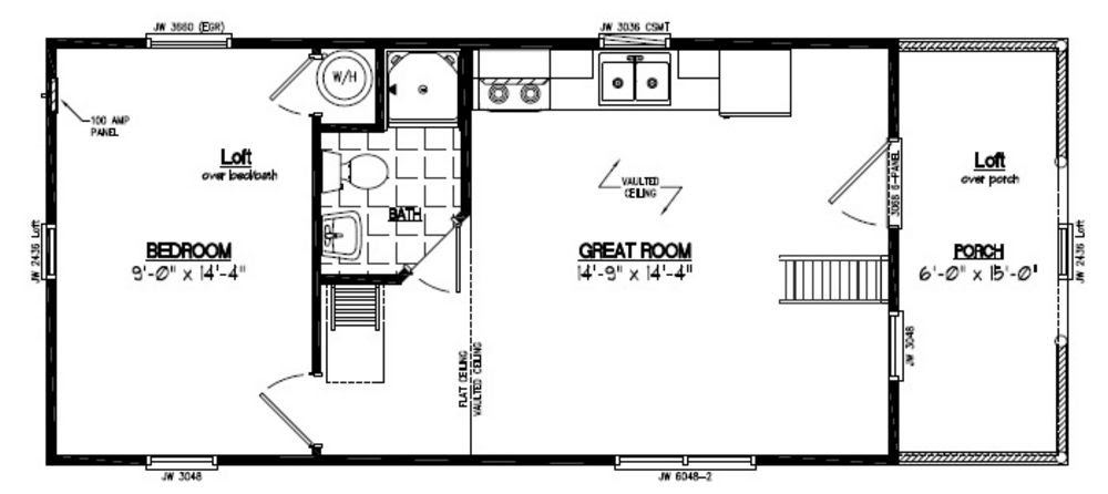 21 Beautiful 24X48 House Plans on
