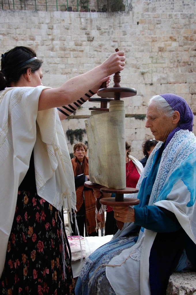 Women of the Wall pray at the Kotel (photo credit: Rachael Cerrotti/Flash90)