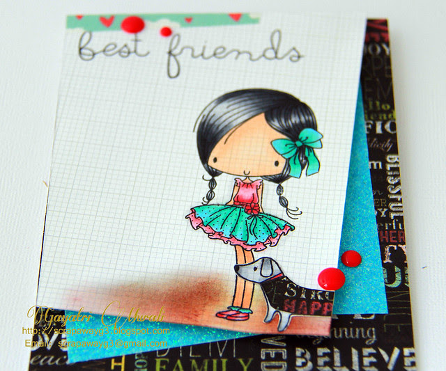 Best Friends Card Close Up!