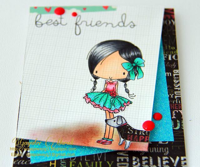 Best Friends Card Close Up!