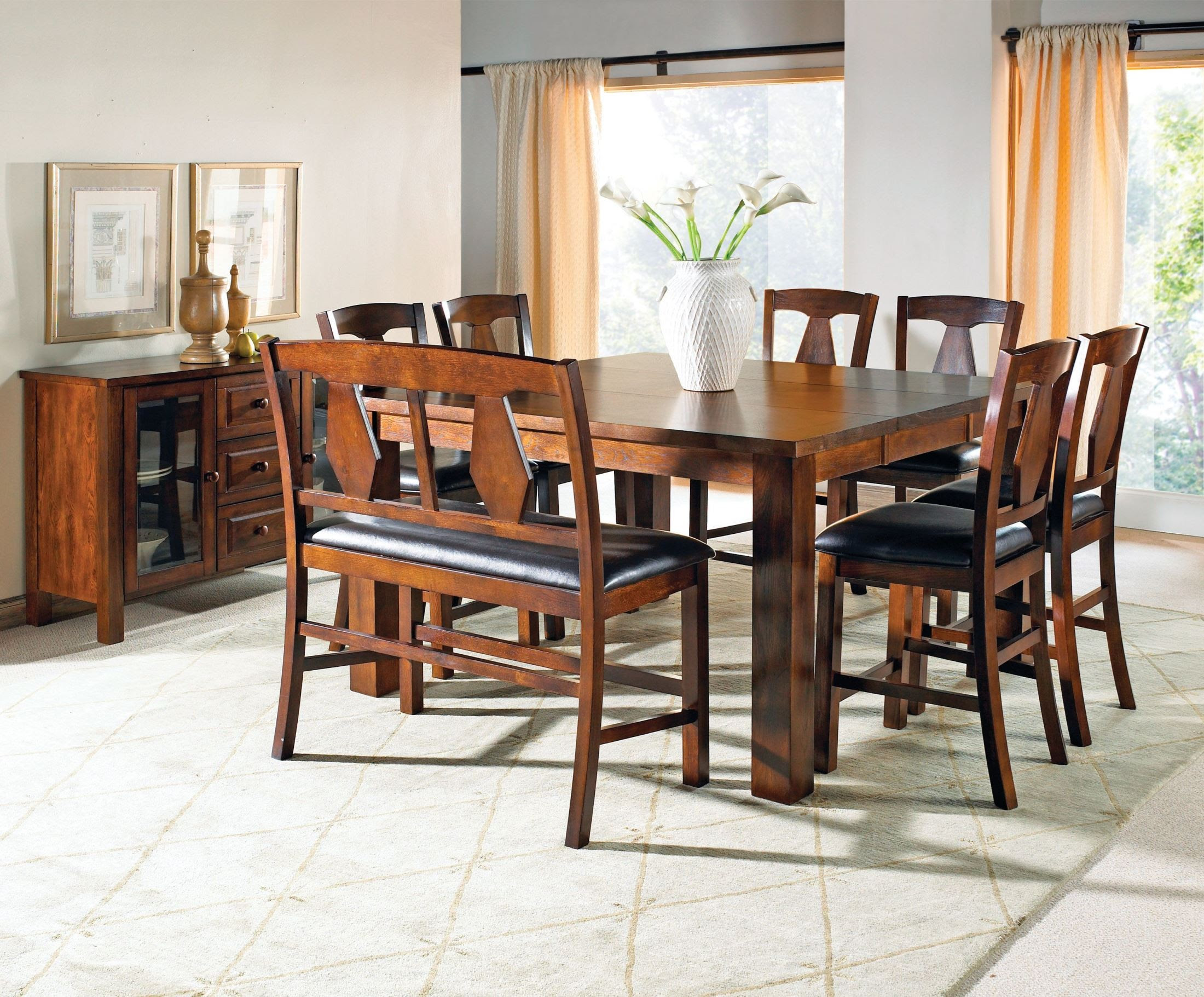 Lakewood Medium Oak Extendable Rectangular Counter Height ...