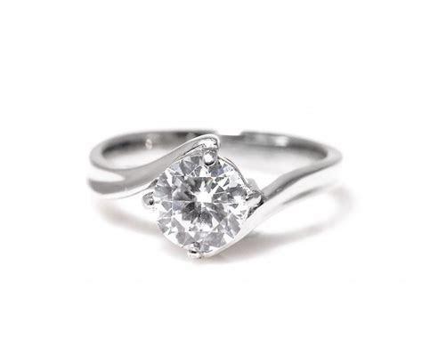 Delta Titanium Engagement Ring with Swarovski   Engagement