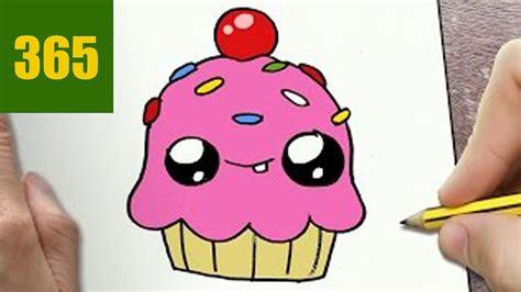 disegnare cupcake kawaii passo dopo passo disegni