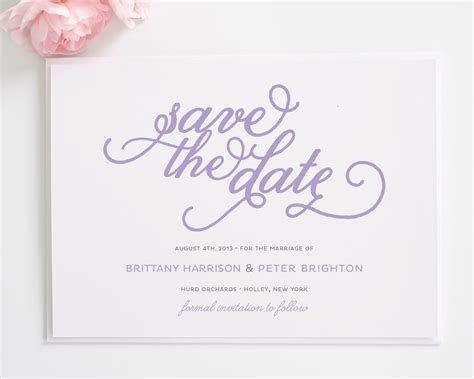 Classic Whimsy Save the Date Cards   Wedding Paper   Save