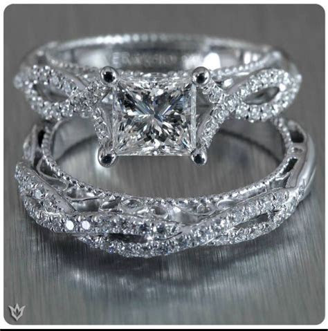 Verragio engagement ring and wedding band. might be too