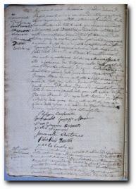 1847, acte de mariage de Pierre Paul Desanti et Marie Livia Sinoncelli