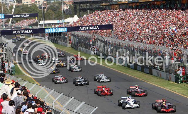 Salida GP Australia 2008