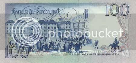 Verso da nota de 100$00, chapa 8. * Image hosted by Photobucket.com