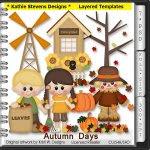 Autumn Days Layered Templates - CU