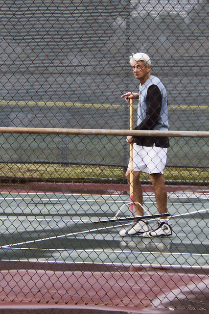 Furman Park tennis player