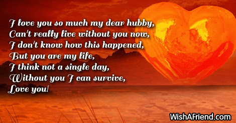 I Love You So Much Poem For Husband