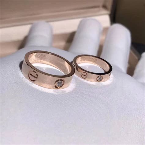 Cartier Love Wedding Band 18k Pink Gold with a Diamond