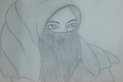 Gambar Kartun Muslimah Bercadar Sketsa Wanita Berhijab