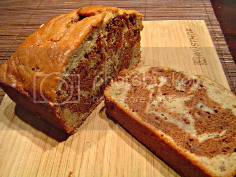 Chocolate and Banana Marbled Bread